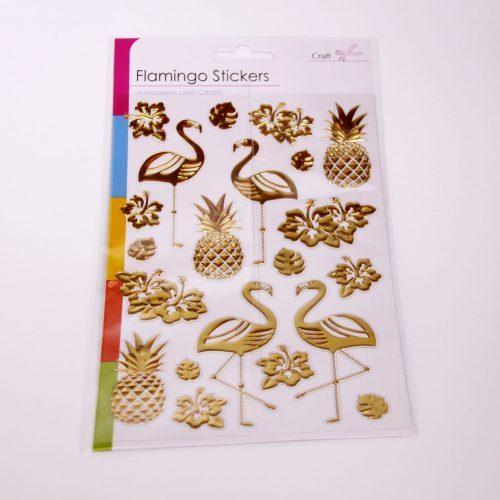 Flamingo Sticker Set Gold