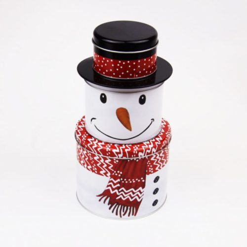 Christmas Decorative Layer Tins Snowman