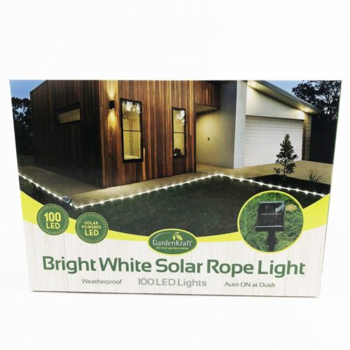 100 LED Solar Rope Light Bright White