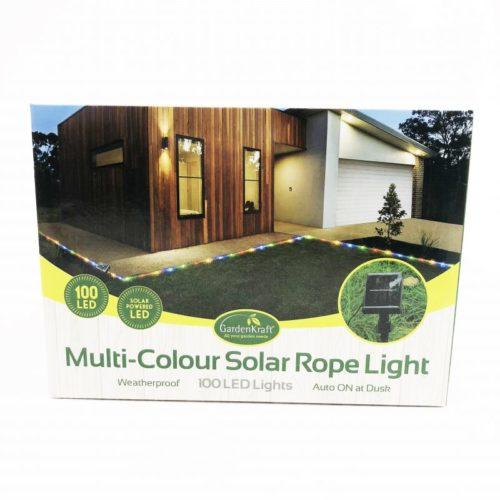 100 LED Solar Rope Light Multi Coloured