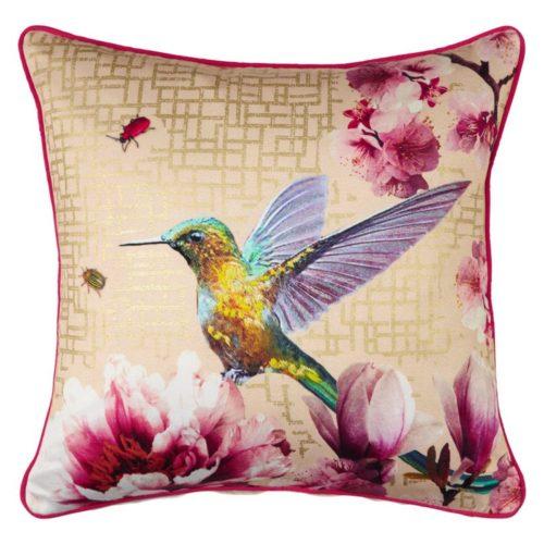 Arthouse Kotori Gold Embroided Cushion/Pillow 004763