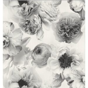 Arthouse Wallpaper Diamond Bloom Mono 257001 Sample