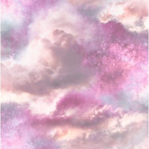 Arthouse Diamond Galaxy Vinyl Wallpaper Purple/Blush A4 Sample
