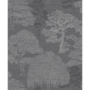 Arthouse Eastern Alchemy Wallpaper Meili Gunmetal Silver 293007 Full Roll
