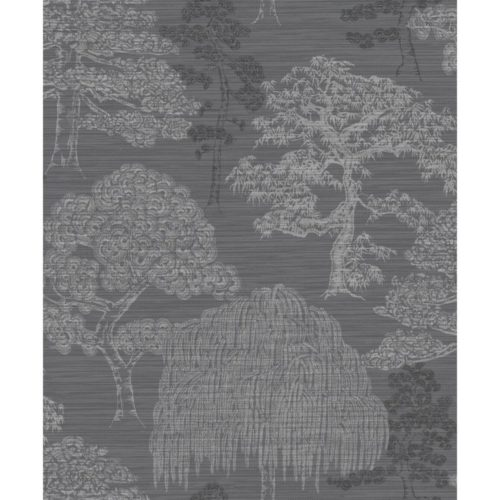 Arthouse Eastern Alchemy Wallpaper Meili Gunmetal Silver 293007 Full Roll