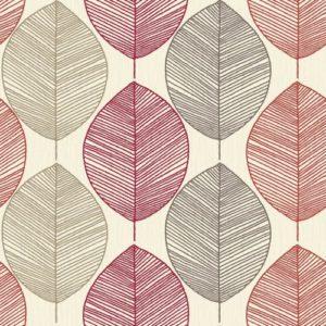 Arthouse Wallpaper Retro Leaf Red 408205 Sample
