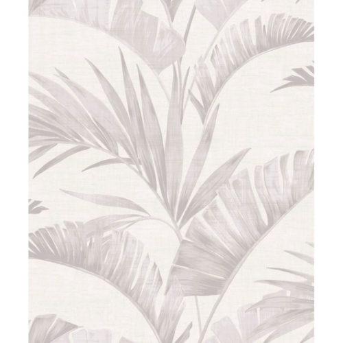 Arthouse  Paste The Wall Wallpaper Banana Palm Chalk Grey 610600