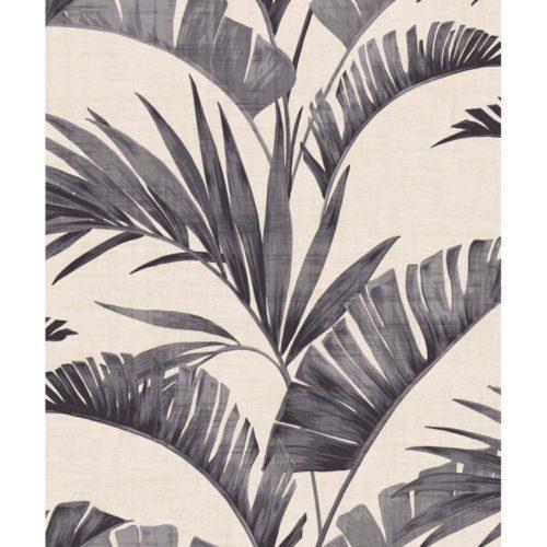 Arthouse  Paste The Wall Wallpaper Banana Palm Charcoal 610601