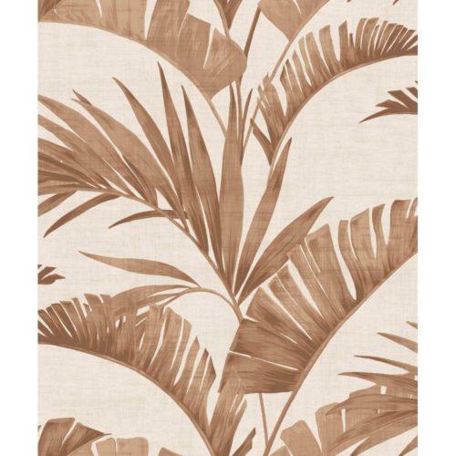 Arthouse  Paste The Wall Wallpaper Banana Palm Coffee 610602