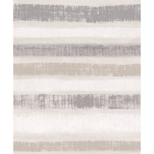 Arthouse  Paste The Wall Wallpaper Painted Stripe Chalk Grey 610603
