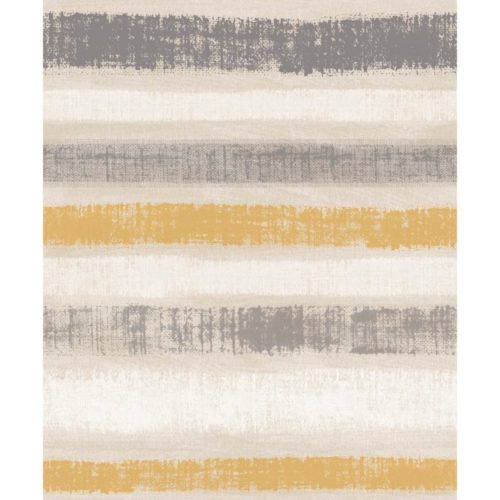 Arthouse  Paste The Wall Wallpaper Painted Stripe Ochre 610604
