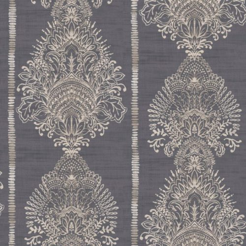 Arthouse  Paste The Wall Wallpaper Silk Road Charcoal 610606