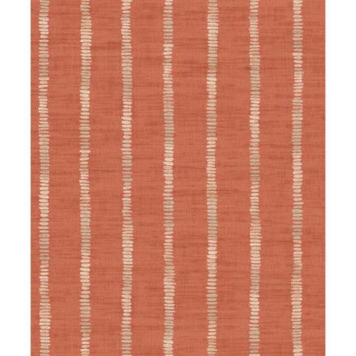 Arthouse  Paste The Wall Wallpaper Silk Road Stripe Terracotta 610609