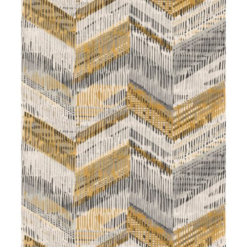 Arthouse  Paste The Wall Wallpaper Chevron Weave Ochre 610801