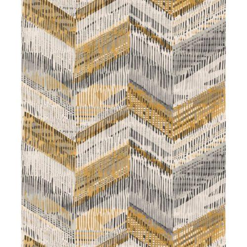 Arthouse  Paste The Wall Wallpaper Chevron Weave Ochre 610801