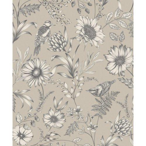 Arthouse  Paste The Paper Wallpaper Botanical Songbird Natural 676000