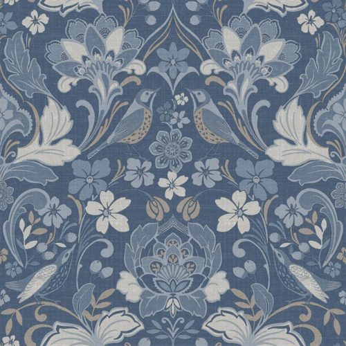 Arthouse  Paste The Paper Wallpaper Folk Floral Denim Blue 676002