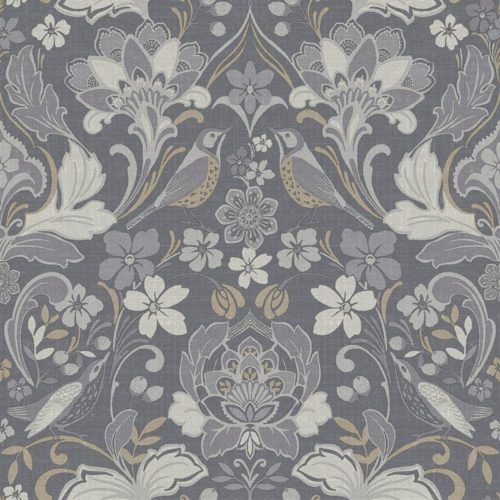 Arthouse  Paste The Paper Wallpaper Folk Floral Grey 676003