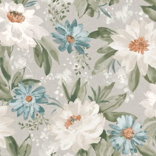 Arthouse  Paste The Paper Wallpaper Painted Dahlia Green Multi 676104