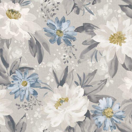Arthouse  Paste The Paper Wallpaper Painted Dahlia Grey Multi 676105
