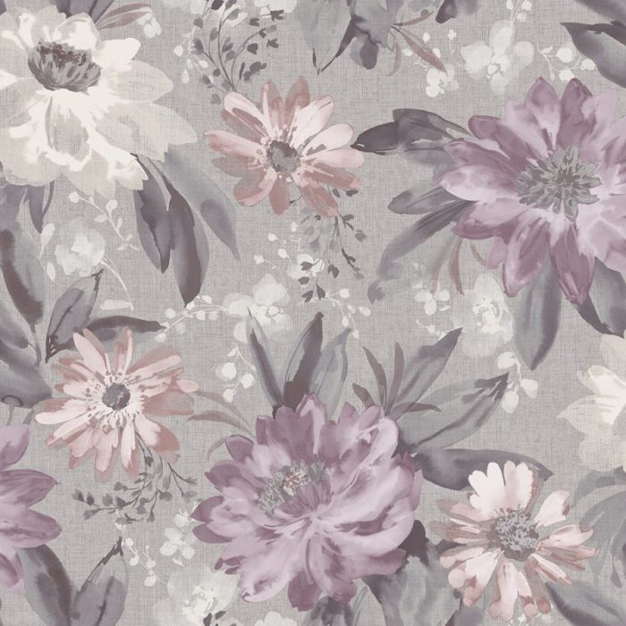 Arthouse  Paste The Paper Wallpaper Painted Dahlia Heather 676106