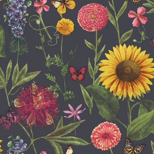 Arthouse  Paste The Paper Wallpaper Summer Garden Charcoal Multi 676203