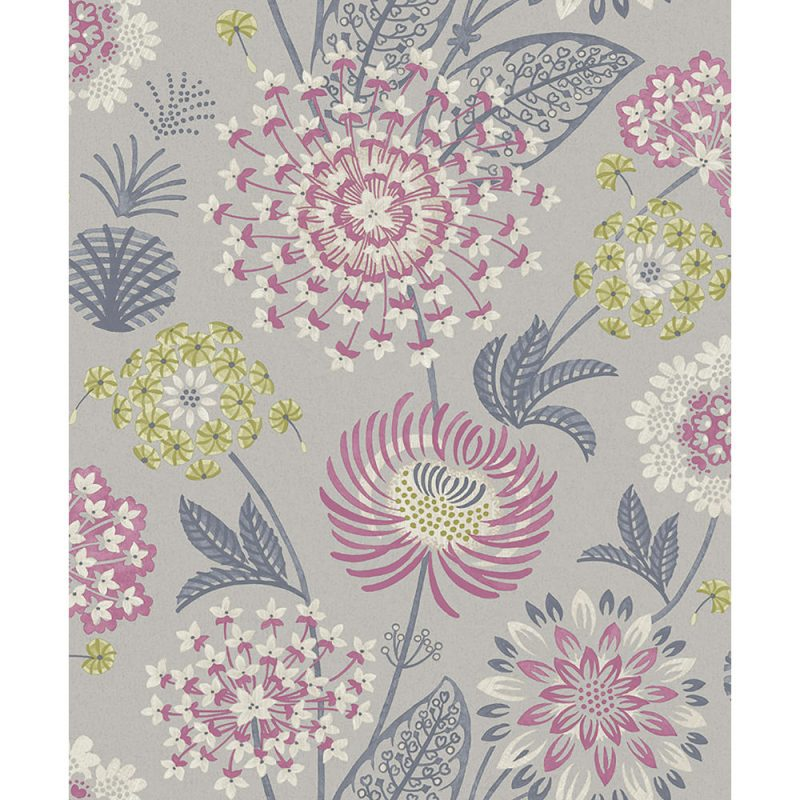 Arthouse  Paste The Paper Wallpaper Vintage Bloom Raspberry 676207