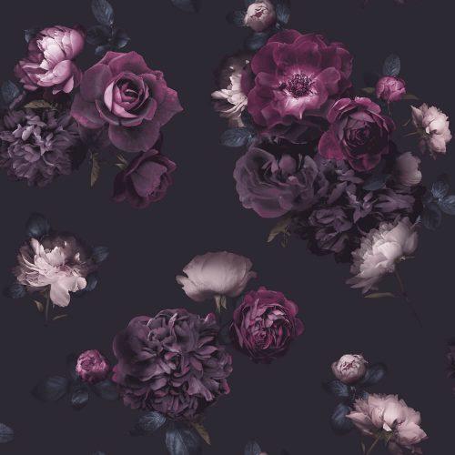 Arthouse Wallpaper Euphoria Floral Plum 697500 Sample