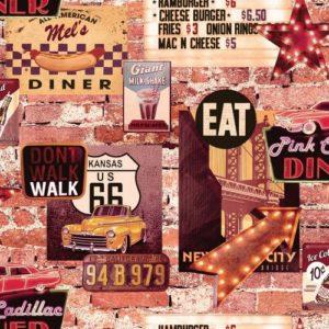 Arthouse Wallpaper American Diner 889600 Sample