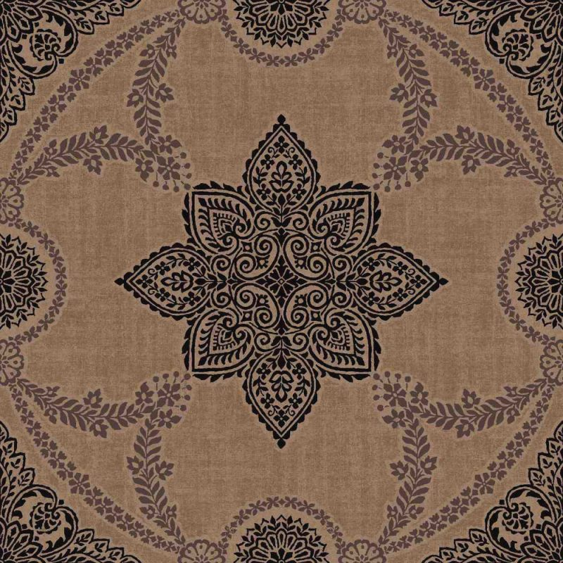 Arthouse Flock And Glitter Non Woven Paste The Wall Wallpaper Anise Bronze 900403