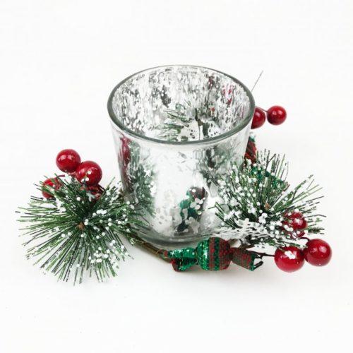 Christmas Candle Set Silver