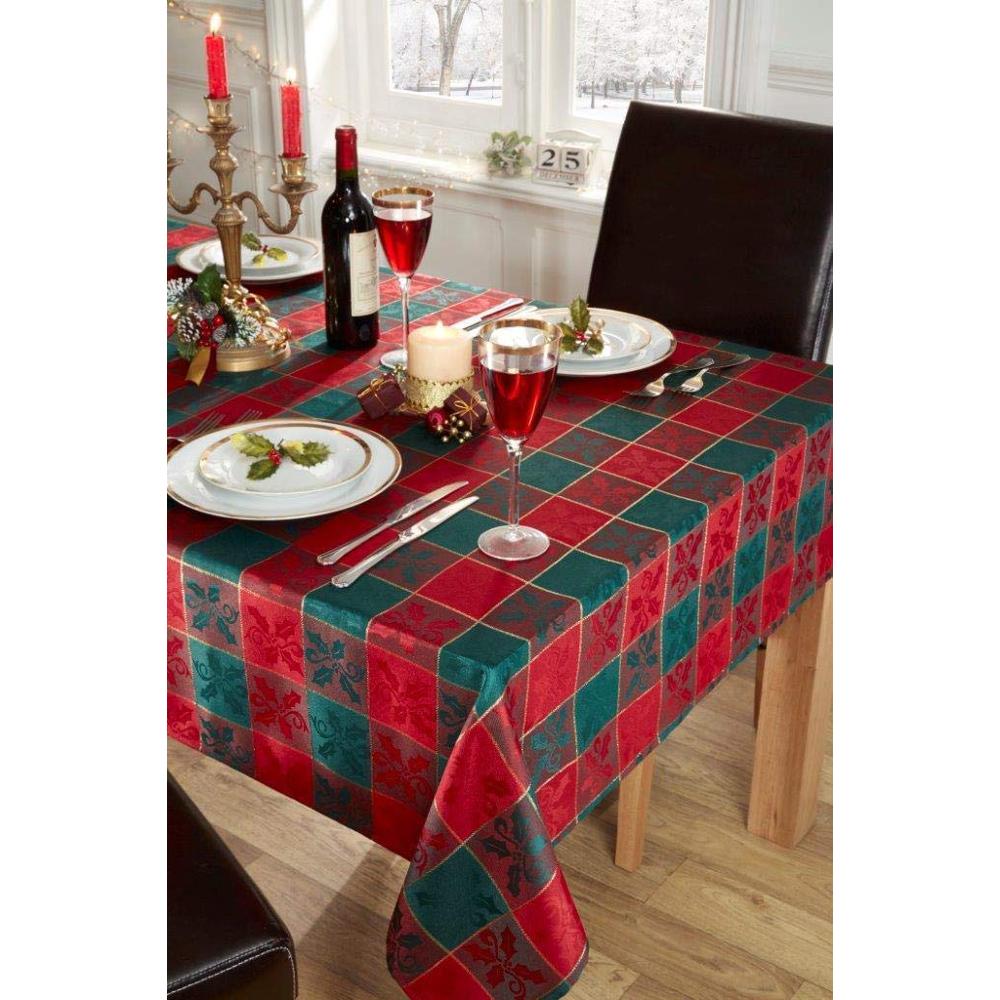 Tartan Christmas Tablecloth Red Green 50 X 70 Wallpaper Warehouse