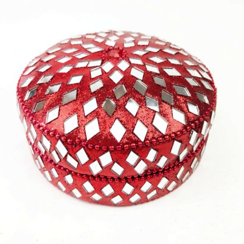 Wax Filled Candle Tin Red