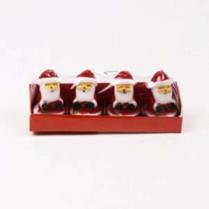 Christmas Candles Pack of 4 Santa