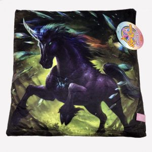 42cm Velour Unicorn Cushion