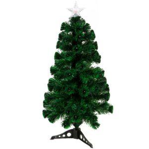 90cm 93 tip LED & Fibre Optic Christmas Tree
