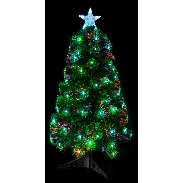 Fiber Optic Christmas Tree.90cm 93 Tip Led Fibre Optic Christmas Tree