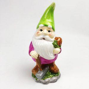 21.5cm Roots & Shoots Garden Gnome Green