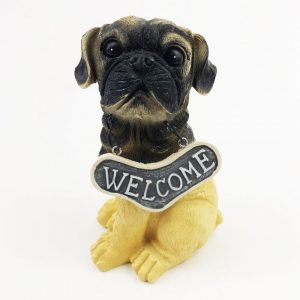 Welcome Dog Ornament Pug