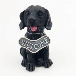 Welcome Dog Ornament Labrador Tongue Out