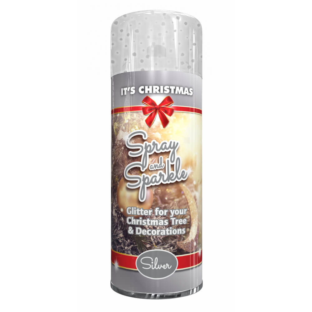 Christmas Sprays Uk.It S Christmas Spray And Sparkle Glitter Silver 200ml