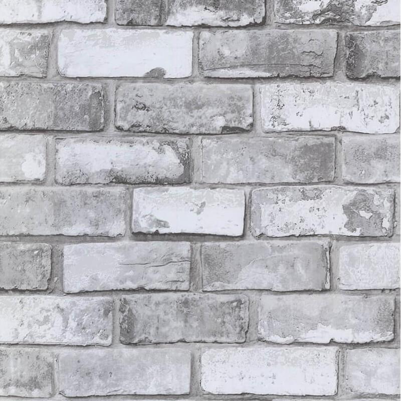 Debona Wallpaper White Brick Effect 6751 Full Roll