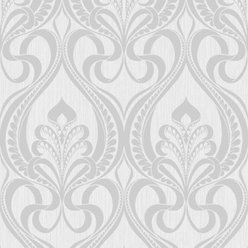 Grandeco Art Nouveau Vinyl Wallpaper Silver 113002 A4 Sample