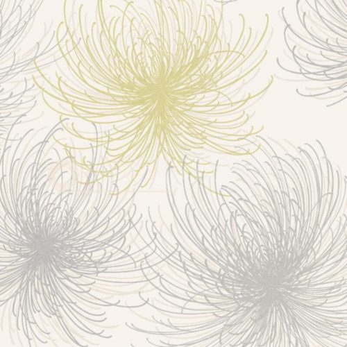 Grandeco Cosmo Vinyl Wallpaper Yellow A24306 A4 Sample