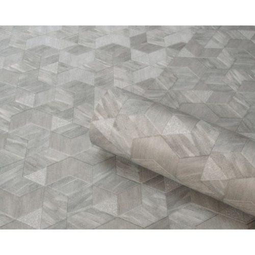 Belgravia Tempo Heavyweight Wallpaper Verdi Steel 7333 Full Roll