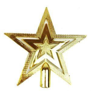 Christmas Tree Top Star Gold