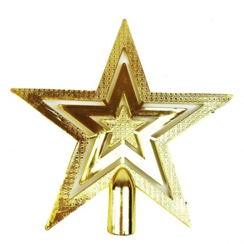 Christmas Tree Top Star Gold