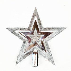 Christmas Tree Top Star Silver