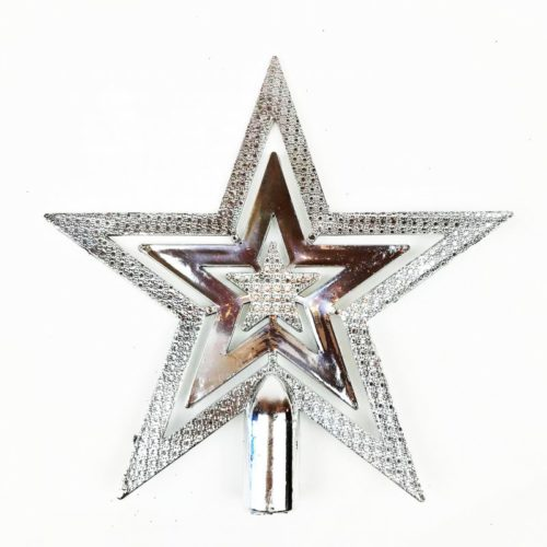 Christmas Tree Top Star Silver