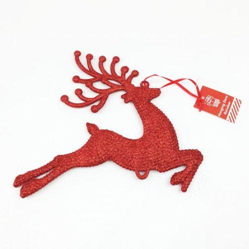 Hanging Reindeer Decoration Red